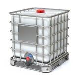 De witte plastic tank van de wateropslag Royalty-vrije Stock Afbeeldingen