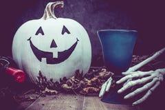 De witte pompoen van Halloween Royalty-vrije Stock Foto