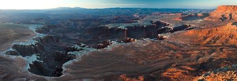 De witte rand van Canyonlands van Groene Rivier overziet Royalty-vrije Stock Foto's