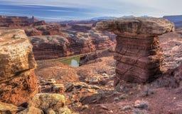 De witte Rivier van Rim Hoodoo en van Colorado Stock Afbeeldingen