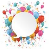De witte Ronde Ballons Percents van de Toespraakbel Royalty-vrije Stock Foto's