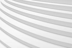 De witte ronde het stijgen mening van de tredenclose-up Royalty-vrije Stock Afbeeldingen