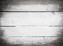 De witte slagen van de verfborstel op houten plank royalty-vrije stock foto