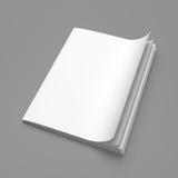 De witte spatie van het dekkings lege tijdschrift royalty-vrije illustratie