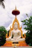 De witte standbeelden van Boedha in Thailand Royalty-vrije Stock Fotografie