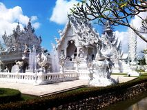 De witte tempel Royalty-vrije Stock Fotografie