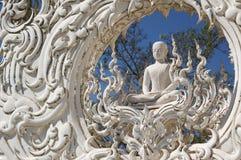 De witte tempel Royalty-vrije Stock Foto's