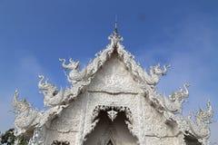 De witte tempel in Chiang Rai, Thailand Stock Afbeelding
