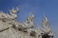De witte tempel in Chiang Rai, Thailand Royalty-vrije Stock Fotografie