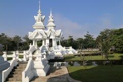 De witte tempel in Chiang Rai, Thailand Royalty-vrije Stock Foto's