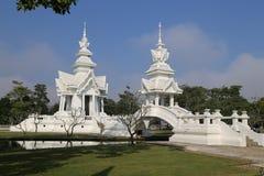 De witte tempel in Chiang Rai, Thailand Stock Afbeeldingen