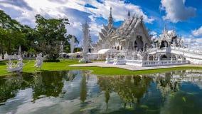 De witte tempel van Thailand, Wat Rong Khun Stock Foto's