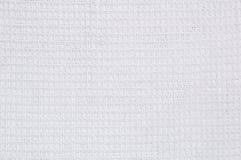 De witte textuur van de wafeldoek Royalty-vrije Stock Afbeeldingen