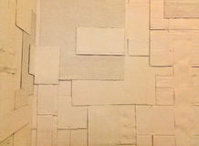 De witte textuur van het karton omfloersen-papier Stock Fotografie
