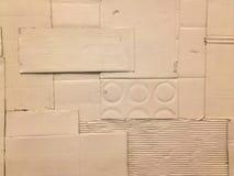 De witte textuur van het karton omfloersen-papier Stock Foto's