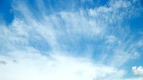 De witte Tijdspanne van de Wolkentijd stock videobeelden