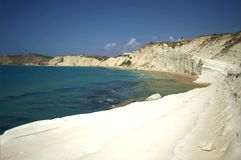 De witte Turkse tredenklip dichtbij Agrigento Royalty-vrije Stock Foto