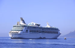 De witte van de Overzeese close-up cruisevoering Stock Foto