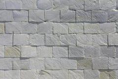 De witte van de de steentegel van de leibaksteen achtergrond van de de muur rustieke textuur grunge stock foto