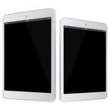 De witte Vectorillustratie van Tabletpc Stock Afbeeldingen
