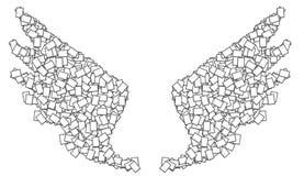 De witte vleugel van het frame Royalty-vrije Stock Foto