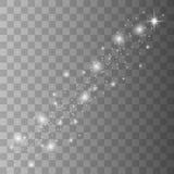 De witte vonken schitteren speciaal lichteffect vector illustratie