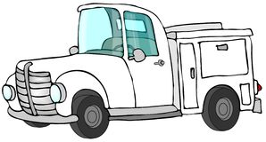 De witte Vrachtwagen van het Werk Royalty-vrije Stock Foto
