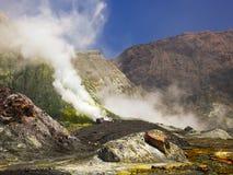 De witte vulkaan van het Eiland, Nieuw Zeeland Stock Afbeeldingen