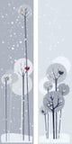 De witte winter royalty-vrije illustratie