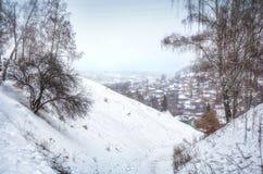 De witte Winter van Plyos Stock Afbeelding