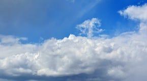 De witte wolk kijkt als een boom in de hemel Sprookjebehang Stock Afbeeldingen