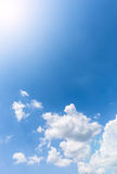 De witte wolk van Nice op de hemel Stock Foto
