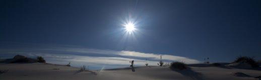 De witte Zonsondergang van het Zand Stock Afbeelding