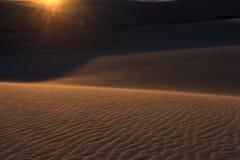 De witte Zonsondergang van het Zand Royalty-vrije Stock Foto's