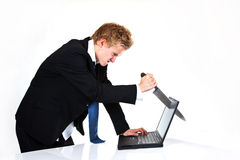De woede van de computer Stock Foto