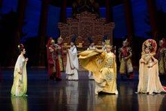 De woede van de keizer van de tweede handeling van Tang Dynasty-The: een feest in de van het paleis-heldendicht de Zijdeprinses ` royalty-vrije stock foto