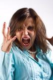 De woede van vrouwen Stock Afbeeldingen