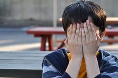 De Woedeaanval van het kind Stock Foto