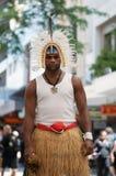 De woeste Eilandbewoner van de Straat Torres stock fotografie