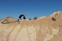 In de woestijn Stock Afbeeldingen
