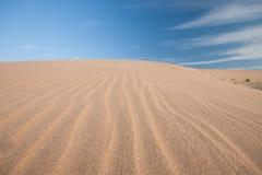 De woestijn is een plaats die zeer heet is Stock Afbeelding
