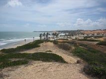De Woestijn en de oceaan van Brazilië Stock Fotografie
