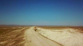 De woestijn en het plateau Ustyurt of het plateau van Ustyurt worden gevestigd in het westen van Centraal-Azië, Karakalpakstan-pa stock videobeelden