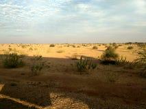 De woestijn en de horizon in Rajasthan Stock Foto