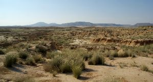 De Woestijn Spanje van Bardenasreales Stock Foto