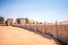 De woestijn van Abudabhi Stock Foto's