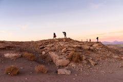 De woestijn van Atacama in Chili Stock Foto's