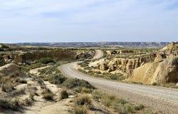 De woestijn van Bardenas reales Stock Afbeeldingen