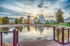 De woestijn van beklimmingsdavid Het klooster van het bisdom van Moskou van de Russische Orthodoxe Kerk Stock Afbeelding