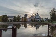 De woestijn van beklimmingsdavid Het klooster van het bisdom van Moskou van de Russische Orthodoxe Kerk Stock Fotografie
